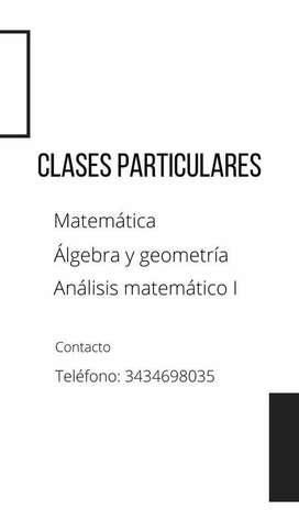 CLASES DE MATEMÁTICA - SECUNDARIA Y UNIVERSIDAD