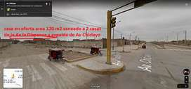 casa en oferta area 120 m2 a una cuadra de la av Chiclayo a 2 casas de la av. la Dispensa S/.135.000