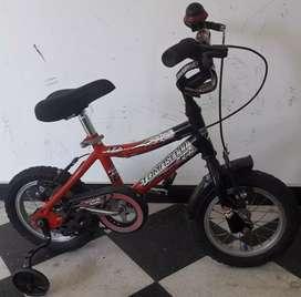 Bicicleta Tomaselli Rodado 12 niño, varon