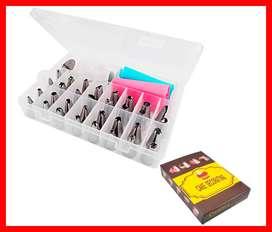 kit de 38 piezas para hornear pastelería herramienta pastelería herramientas de pastelería bolsas de confitería