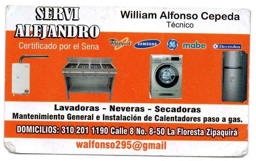 Técnico en mantenimiento y reparación lavadoras neveras, calentadores a paso de gas y estufas 0