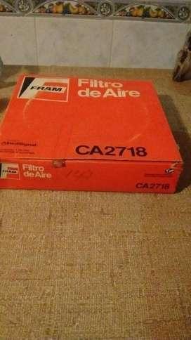 Filtro de aire Fram CA2718 para línea Fiat: Duna, Spazio, 147, Super Europa, 128, Brio y Vivace nuevo