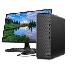 Computador PC HP 22 S01-pF100bla Intel Core i3- 4 GB RAM- Disco Duro 1TB-Negro