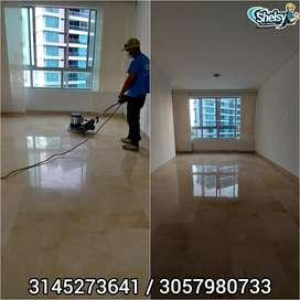 Restauración completa y pulido de piso