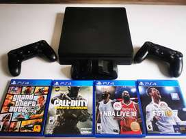 Playstation 4 1tb - 2 Controles - 4 Películas - Base Carga