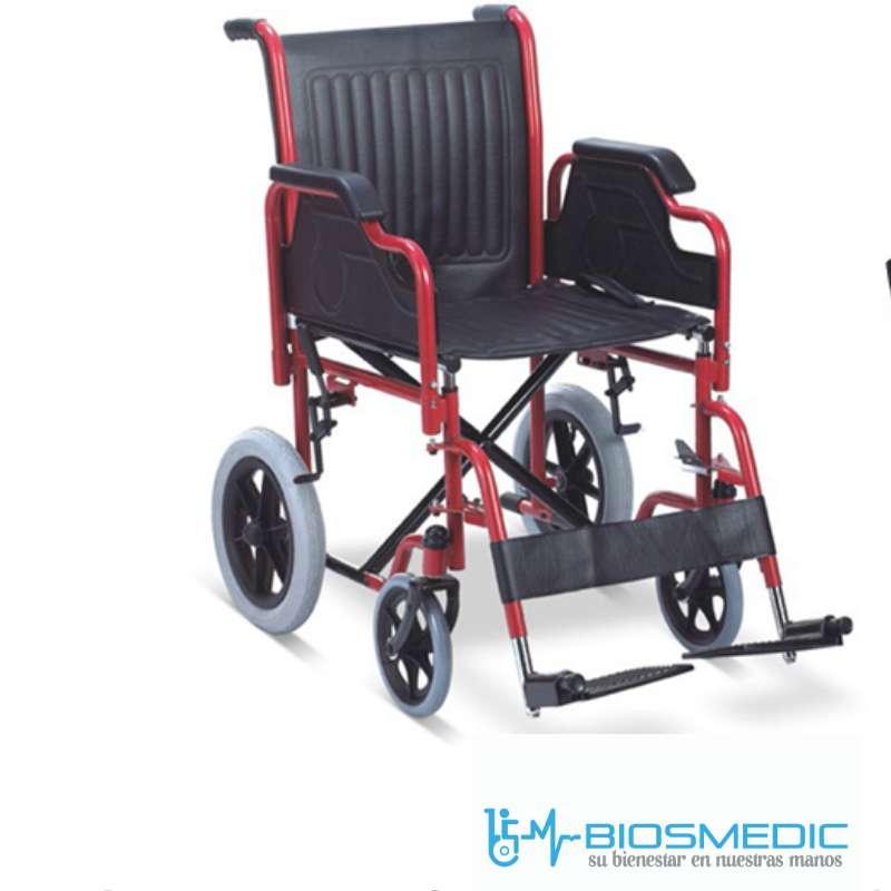 Silla de ruedas De Transporte Liviana Plegable Facil Manejo Nueva 0