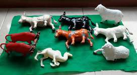 LOTE ANIMALITOS ANTIGUO PESEBRE GRANDE