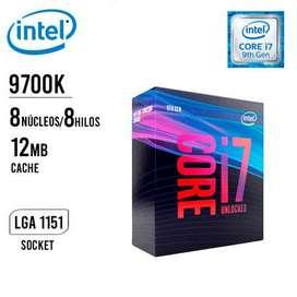 Procesador Intel Core I7 9700k Socket 1151 9na Gen