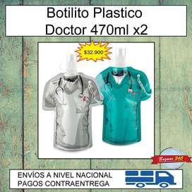 Botilito Plastico Doctor 470ml x2