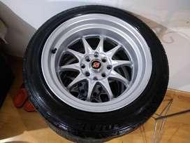 """Rines poncheros 15""""x8"""" para Aveo, Mazda, Twingo"""