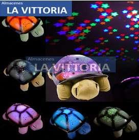 Lampara proyector Estrellitas, musical 4 sonidos
