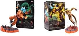 Goku y  Freezer 14 cm de alto