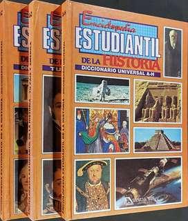 Enciclopedia Estudiantil de la HISTORIA, Diccionario Universal, Tu Pais y America