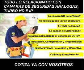 Instalación y venta de cámaras de seguridad, redes de computadores y electricidad residencial para tu hogar o negocio