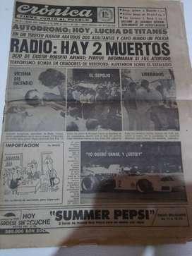 Cronica diario domingo  23 de enero de 1972. usado.