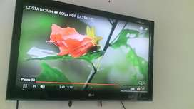 Vendo Televisor LG 44 pulgadas no smart tv con google chrome cast