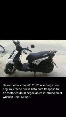 Se vende bws 2012
