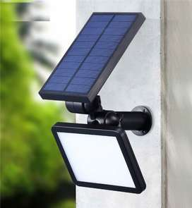 Lampara estaca 48 led panel solar iluminacion fotocelda jardin