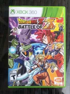 Dragon Ball Z battle of Z original XBOX 360 juego usado