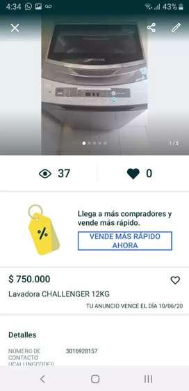 Se vende lavadora en perfecto estado $750.000