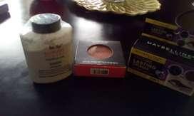 Polvo suelto+blush+2delineador en barra ceja y ojos