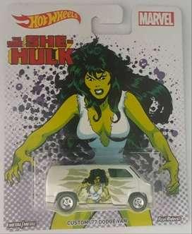 Hot Wheels Custom Dodge Van 1977 Collector #she Hulk Marvel