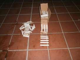 cuarta caña blanca de 15 x 2,5 cm