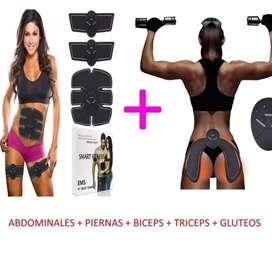 Electroestimuladores para abdomen, glúteos, pierna o brazo.