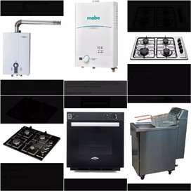 Instalaciones estufas calentadores gasodomesticos en general.