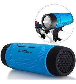Parlante Para Bicicleta Con Bluetooth Linterna Power Bank