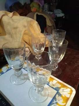 6 Juegos de tazas de cristal