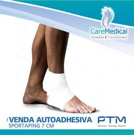 Venda Autoadhesiva Sportaping 7cm- PTM - Ortopedia Care Medical