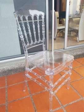 Se venden 6 sillas tifanny usadas