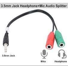 Adaptador Splitter Audio Auxiliar 3.5mm 1macho 2hembra Zona tech