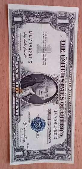 Billete de un dólar 1935 sello azul