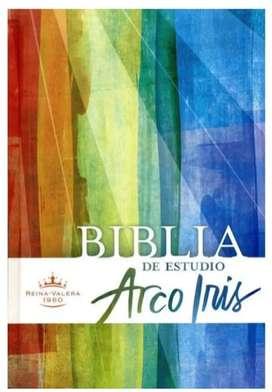 Biblia de estudio Arcoiris Pasta Dura