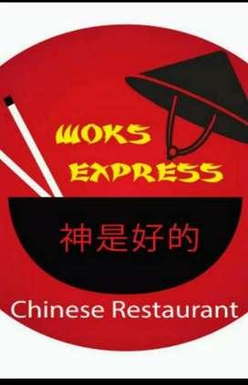 Solicito persona para hacer fritos con experiencia en restaurante chino.