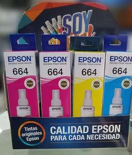 Tintas Epson 664 Original, ver ultima foto para identificar originales, delivery gratis