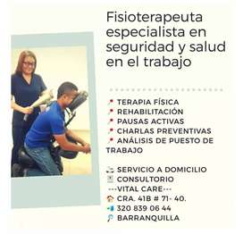 Terapias a domicilio - Fisioterapeuta
