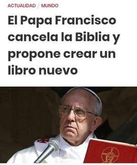 Nuevo libro de nuestro amado papa Francisco de como negar a Dios