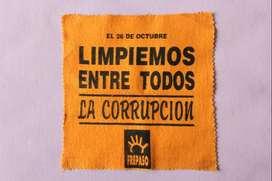 FREPASO: PUBLICIDAD PARA ELECCIONES LEGISLATIVAS DEL 26/10/1997 FRANELA PARA LIMPIAR LA CORRUPCIÓN