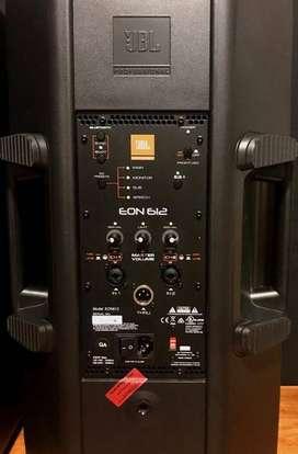 LIQUIDO!! JBL EON 612 (SOLO DEMO EN SHOW ROOM) $ 42.999 C/U MADE IN MEXICO