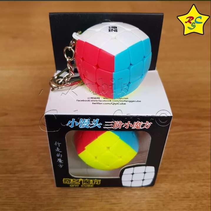 Llavero Pillow 3 Cm Qiyi Cubo Rubik Speedcube Stickerless 0