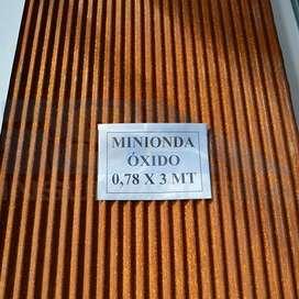 Chapa Minionda Óxido C30 0,78 x 3 mt Ternium Siderar