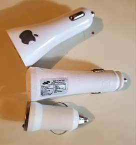 Cargadores Carro iPhone Samsung Rapida