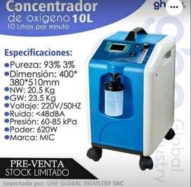 concentrador de oxígenos de 10L