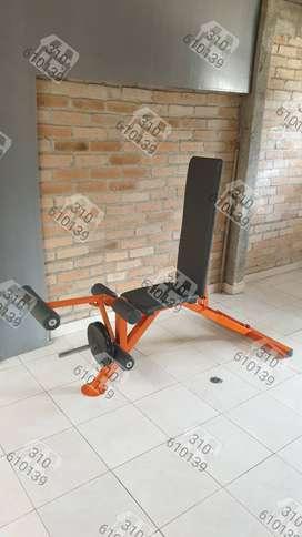 Banco para entrenar con pesas