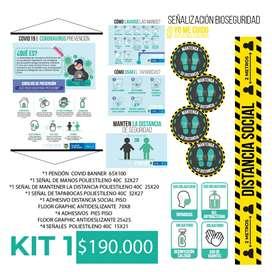 Kit de Señalizacion bioseguridad