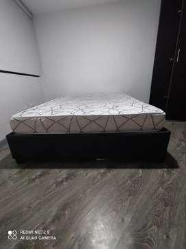 Base cama y colchon doble