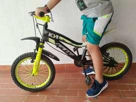 Vendo bicicleta GW para niño original.